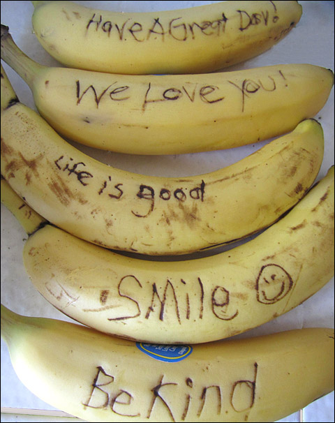 Lunchbox Ideas - Banana Notes
